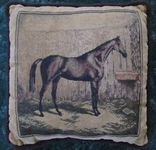 Vintage Tapestry Throw Pillow with Horse