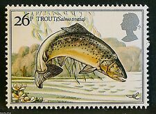 """""""Brown Trout"""" illustrated on 1983 Stamp - U/M"""