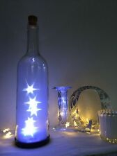 Vintage Glass Bottle Star Lights Christmas Decoration Battery Operated 2 x AAA