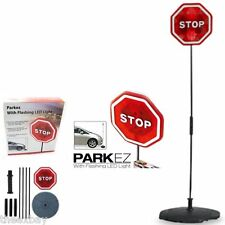 PARKING STOP SIGN PARKEZ FLASHING LED LIGHT CAR GARAGE PARK EZ SIGN AID SENSOR