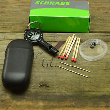 Schrade 12 Pc. Emergency Camping Survival Kit Whistle/Compass SCSK1