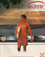 Publicité 1999 OXBOW vetement chaussure collection sport mode