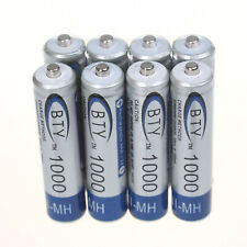 8 X BTY Ni-MH Battery - 1.2V AAA 1000mAh Ni-MH rechargeable battery