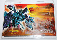 Transformers Botcon 2012 Spinister Tech Spec & Instructions