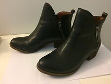 Lucky Brand Basonta Black Leather Leather Ankle Boots Booties 7 37