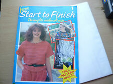 From Start to Finish 1982- Complete Needle Craft Guide with Pattern