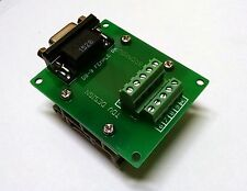 DB9 D Sub Din Rail Mount Breakout Board Right Angle Serial CNC