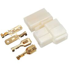 10 Sets 2 WAY PIN 6.3mm CAR ELECTRICAL MULTI PLUG CONNECTOR TERMINAL BLOCK