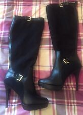 New Look Black Knee High Boots - New - 8