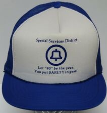 Old Vintage 1980s 1990s BELL TELEPHONE PHONE SAFETY ADVERTISING SNAPBACK HAT CAP