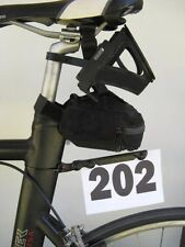 Triathlon bike race number holder by Smartmount fits any shape seat post