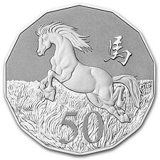 2014 1/2 oz Silver Australian Lunar Year of the Horse Tetradecagon Coin