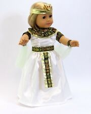 """Doll Clothes AG 18"""" Dress White Egyptian Queen Made To Fit American Girl Dolls"""