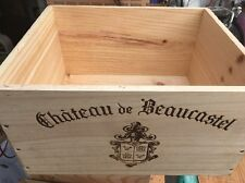 Wine Box Case Crate 6 Bottle French Chateau Beaucastel Rhone