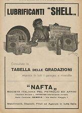Y0777 Lubrificanti SHELL - Illustrazione - Pubblicità 1927 - Advertising