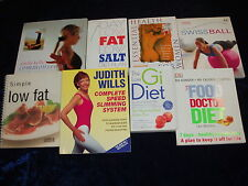 8 LOW FAT, LOOSE WEIGH, DIET BOOKS ** UK FREEPOST **