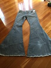 Free People Super Flare Denim Jeans. Size 31 Color:  Blue NWT