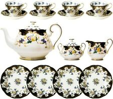 100 YEARS OF ROYAL ALBERT 1910 DUCHESS 15 PIECE TEA SET - NEW