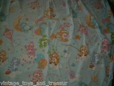 VINTAGE 1980's CARE BEARS FULL FITTED SHEET BEDDING BLANKET GREAT FOR FABRIC