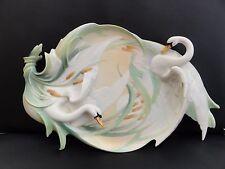 Franz Porcelain Southern splendore Swan Tray-fz01551e RARA incredibile articolo