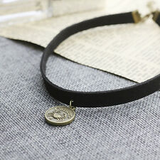 Leather Choker Necklace Cancer Charm Necklace Zodiac Sign Jewelry Birthday B