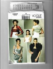 Vogue V8957 Sewing Pattern Bolero Jacket Shrug Ruffled Stole Uncut Size 14-22