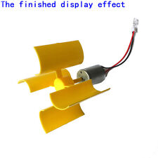 Diy Kit Small Dc Motor Vertical Micro Wind Turbines Blades Generator