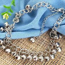 Silver Tone Jingle Bell Anklet Ankle Bracelet Chain 8mm FASHION