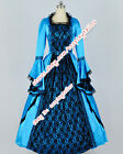 Reenactment Civil War Southern Belle Ball Gown Satin Lace Dress Prom Clothing