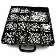 820 pcs M4 ASSORTED BOLTS NUTS AND WASHERS KIT SET A2 STAINLESS STEEL Din 933