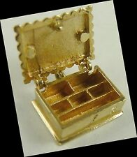 moveable JEWEL BOX Charm Vintage 14K Gold Opens
