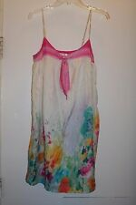 Whitley Silk Sundress Watercolor Floral Lined Adjustable Strap S EUC