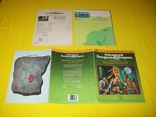 RS1 RED SONJA UNCONQUERED DUNGEONS & DRAGONS AD&D TSR 9183 1 MODULE WITH MAP