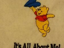 Personalized Embroidery Baby Blanket Pooh Bear