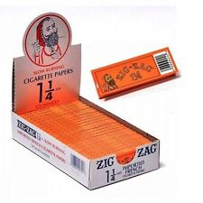24 packs of zig zag orange 1 1/4 rolling cigarette paper..USA Seller..!!!