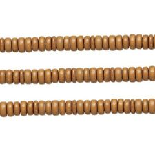 Wood Rondelle Beads Light Brown 8x4mm 16 Inch Strand
