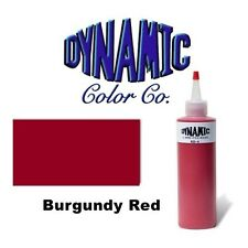 DYNAMIC BURGUNDY RED 1-oz Tattoo Ink Brite Vibrant & Dark Color Supply