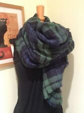 *Thick Green & Blue Soft Check Scarf*