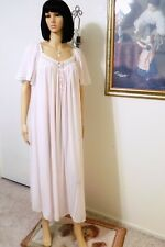 MISS ELAINE VTG Antron Nylon Soft Nightgown PINK Silk Essence size Small