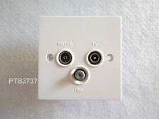 TV/FM/SAT SOCKET OUTLET STANDARD WHITE TRIPLEX UNIT DETA D1340