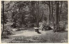 LONDON UK SPRING PARK WOODS POSTCARD POSTMARK 1958