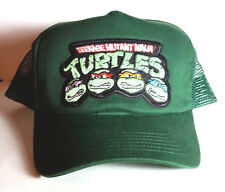 TMNT Teenage Mutant Ninja Turtles Baseball/Trucker Cap/Hat-Green  Cap-FREE S&H