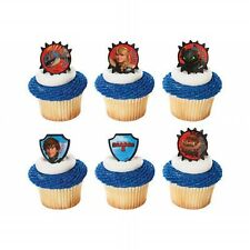NEW 24 HOW TO TRAIN YOUR DRAGON CUPCAKE TOPPERS RINGS BIRTHDAY PARTY CAKE FAVORS