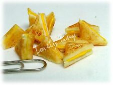 Dollhouse miniature Bread 10 PCs.of Grilled Cheese sandwiches