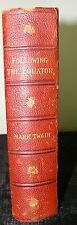 ANTIQUARIAN BOOK MARK TWAIN FOLLOWING THE EQUATOR 1897  FIRST EDITION