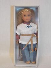"American Girl JULIE MINI DOLL WITH CLEAR COVER Box 6"" + Book NEW Hippie Julie's"