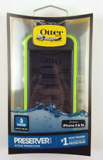 100%  Authentic Otter Box Preserver Case iPhone 5 & 5S Green  Color ,Water proof