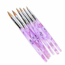 6 Different Size Acrylic Nail Art Brush(NO.2,4,6,8,10,12)Violet White FS Manicur