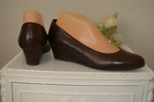 Excellent Con - LAMICA - Ladies Soft Brown Italian Leather Heels Shoes - s 38 5