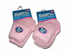 2 X WOMENS LADIES PINK COSY SLEEPERZZZ THERMAL BED SOCKS WITH BRUSHED LINING